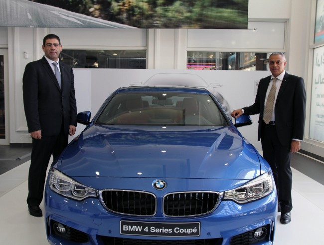 On Left Toni and On Right Side Stavro with the BMW 4 Series Coupe