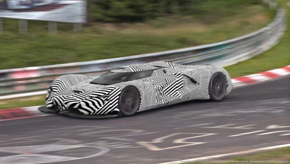 Spied on the track, the SRT Tomahawk Vision Gran Turismo, a sing