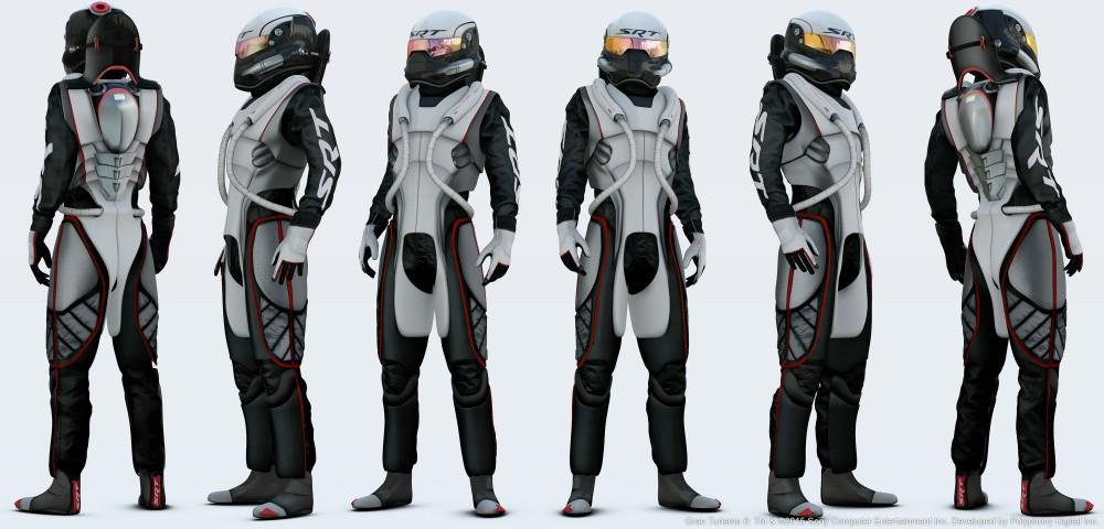 SRT Race G-suit for the SRT Tomahawk GTS-R Vision Gran Turismo