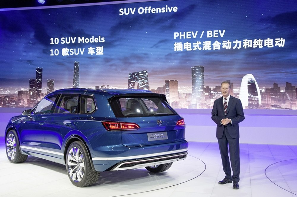 Volkswagen Pressekonferenz auf der Auto China 2016 in Peking