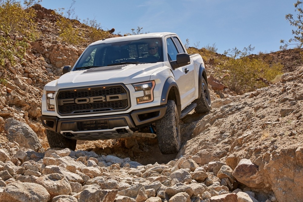 The all-new Ford F-150 Raptor features six terrain modes designed to handle the most demanding terrains. From off-road rock crawling and desert running to on-road sport mode, Raptor is ready for any type of driving.
